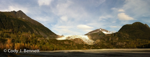 Herbert Glacier Panorama (stitched from three images).